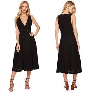 Free people Black midi dress